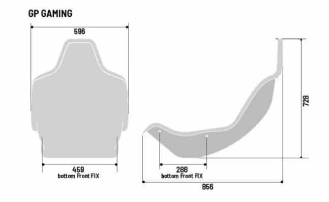 sedile sparco gp f1 misure